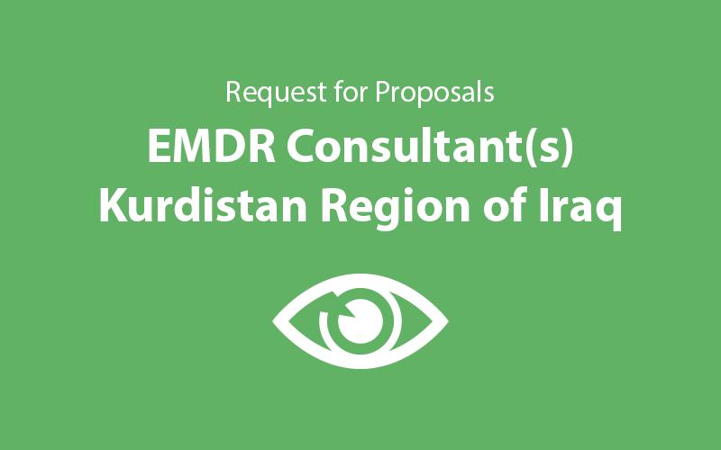 Request for Proposals: EMDR Consultant(s), Kurdistan Region of Iraq ...